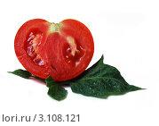 Спелый разрезанный помидор. Стоковое фото, фотограф Багова Маргарита / Фотобанк Лори