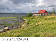 Купить «Село Великая Губа на Онежском озере», фото № 3124841, снято 10 августа 2011 г. (c) Natalya Sidorova / Фотобанк Лори