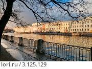 Купить «Река Фонтанка. Санкт-Петербург», эксклюзивное фото № 3125129, снято 3 декабря 2011 г. (c) Александр Алексеев / Фотобанк Лори
