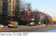 Зимнее утро в Тюмени (2011 год). Редакционное фото, фотограф Виталий Волков / Фотобанк Лори