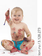 Купить «Креативный ребенок», фото № 3128273, снято 5 января 2012 г. (c) Юрий Викулин / Фотобанк Лори