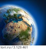 Купить «Планета Земля, освещенная солнцем», иллюстрация № 3129461 (c) Антон Балаж / Фотобанк Лори
