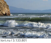 Морские волны при сильном ветре. Стоковое фото, фотограф Виниченко Ирина Николаевна / Фотобанк Лори