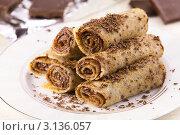 Купить «Блины с шоколадом», эксклюзивное фото № 3136057, снято 22 декабря 2011 г. (c) Александр Курлович / Фотобанк Лори
