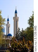 Купить «Минареты соборной мечети Майкопа», фото № 3139945, снято 7 октября 2011 г. (c) LenaLeonovich / Фотобанк Лори
