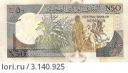 Купить «Банкнота 50 шиллингов. Сомали», фото № 3140925, снято 7 июля 2011 г. (c) Кургузкин Константин Владимирович / Фотобанк Лори