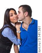Влюбленная молодая пара. Стоковое фото, фотограф Евгений Липский / Фотобанк Лори