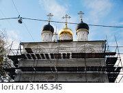 Православный храм на реставрации. Стоковое фото, фотограф Трошина Елена / Фотобанк Лори