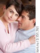 Портрет счастливой семейной пары. Стоковое фото, фотограф Monkey Business Images / Фотобанк Лори
