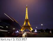 Купить «Ночной Париж. Эйфелева башня», фото № 3153957, снято 22 марта 2019 г. (c) Яна Королёва / Фотобанк Лори