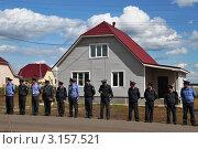 Купить «Полицейский заслон», эксклюзивное фото № 3157521, снято 23 августа 2011 г. (c) Free Wind / Фотобанк Лори