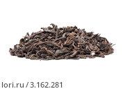 Горка китайского чая Пу Эр на белом фоне. Стоковое фото, фотограф Константин Сидоров / Фотобанк Лори