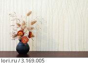 Икебана в вазе на фоне стены. Стоковое фото, фотограф vlntn / Фотобанк Лори