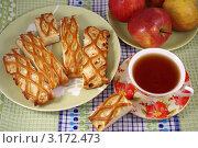 Купить «Яблочный пирог к чаю», фото № 3172473, снято 23 января 2012 г. (c) Natalya Sidorova / Фотобанк Лори
