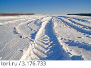 Купить «Башкортостан. Полосы снегозадержания», фото № 3176733, снято 11 декабря 2011 г. (c) Анатолий Ефимов / Фотобанк Лори