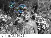 Мыльные пузыри. Стоковое фото, фотограф Svetlana Zavrazhina / Фотобанк Лори