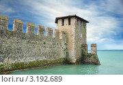 Замок Scaligero на озере Гарда. Италия. (2007 год). Стоковое фото, фотограф Jelena Dautova / Фотобанк Лори