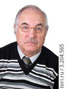 Купить «Портрет дедушки в  очках», эксклюзивное фото № 3204565, снято 28 января 2012 г. (c) Куликова Вероника / Фотобанк Лори