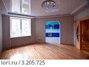 Купить «Большая комната без мебели», фото № 3205725, снято 3 апреля 2020 г. (c) Александр Макаров / Фотобанк Лори