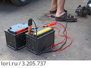 Купить «Старые автомобильные аккумуляторы», фото № 3205737, снято 8 июля 2011 г. (c) Сергей Яковлев / Фотобанк Лори