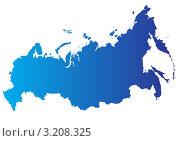 Купить «Векторная карта России», иллюстрация № 3208325 (c) megastocker / Фотобанк Лори