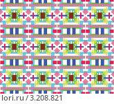 Купить «Абстрактный разноцветный декоративный бесшовный фон», иллюстрация № 3208821 (c) Андрей Ижаковский / Фотобанк Лори