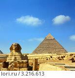 Купить «Египет, пирамида Хеопса и Сфинкс», фото № 3216613, снято 21 ноября 2010 г. (c) Михаил Коханчиков / Фотобанк Лори