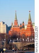 Купить «Москва. Башни Красного Кремля», фото № 3223257, снято 29 января 2012 г. (c) Зобков Георгий / Фотобанк Лори