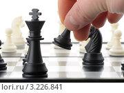 Купить «Игра в шахматы», фото № 3226841, снято 30 января 2012 г. (c) Сергей Галушко / Фотобанк Лори
