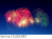Фейерверк в ночном небе. Стоковое фото, фотограф Александр Мартынец / Фотобанк Лори