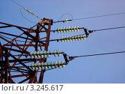 Старая высоковольтная опора. Стоковое фото, фотограф Сергей Илясов / Фотобанк Лори