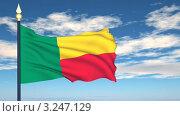 Купить «Флаг Бенина, развевающийся на фоне неба», видеоролик № 3247129, снято 12 февраля 2012 г. (c) Михаил / Фотобанк Лори