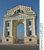 Московские ворота, восстановленные к юбилею Иркутска. Стоковое фото, фотограф Юлия Батурина / Фотобанк Лори