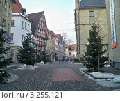 Зимние улицы старого города Оснабрюк Германия (2011 год). Редакционное фото, фотограф Сергей Шихов / Фотобанк Лори