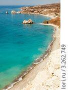 Купить «Петра-ту-Ромиу, или Скала Афродиты, Кипр», фото № 3262749, снято 5 сентября 2011 г. (c) Татьяна Макотра / Фотобанк Лори