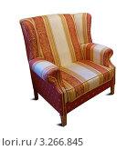 Купить «Мягкое удобное кресло, изолировано», фото № 3266845, снято 24 ноября 2011 г. (c) Яков Филимонов / Фотобанк Лори