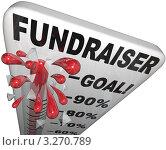 Купить «Взрывающийся градусник с обозначениями этапов достижения цели», иллюстрация № 3270789 (c) Chris Lamphear / Фотобанк Лори