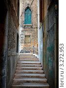 Купить «Узкая улица в Венеции», фото № 3272953, снято 2 апреля 2010 г. (c) Sergey Borisov / Фотобанк Лори