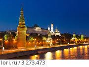 Купить «Вид на Московский Кремль и Москву-реку, лето, ночь», фото № 3273473, снято 18 февраля 2018 г. (c) Sergey Borisov / Фотобанк Лори