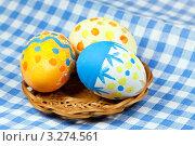 Пасхальные яйца ручной работы. Стоковое фото, фотограф ElenArt / Фотобанк Лори