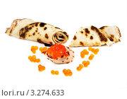 Купить «Красная икра и блины», фото № 3274633, снято 15 февраля 2010 г. (c) ElenArt / Фотобанк Лори