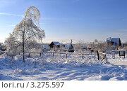 Зимний пейзаж (2011 год). Стоковое фото, фотограф Алексей Голованов / Фотобанк Лори