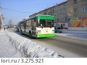 Купить «Городской автобус. ЛиАЗ.», фото № 3275921, снято 29 января 2012 г. (c) Татьяна Матвейчук / Фотобанк Лори