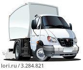 Купить «Мультяшный грузовичок», иллюстрация № 3284821 (c) Александр Володин / Фотобанк Лори