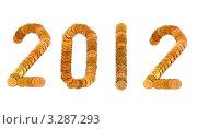 Купить «Число 2012 из монет», эксклюзивное фото № 3287293, снято 19 декабря 2010 г. (c) Юрий Морозов / Фотобанк Лори