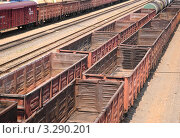 Товарные железнодорожные вагоны (2010 год). Редакционное фото, фотограф Алёшина Оксана / Фотобанк Лори
