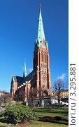 Купить «Церковь Святого Иоанна в Стокгольме, Швеция», фото № 3295881, снято 26 февраля 2012 г. (c) Михаил Марковский / Фотобанк Лори