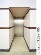 Лифт с закрытыми металлическими дверями. Стоковое фото, фотограф Losevsky Pavel / Фотобанк Лори