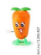 Купить «Забавная игрушка: заводная морковка», фото № 3300457, снято 28 сентября 2010 г. (c) Losevsky Pavel / Фотобанк Лори