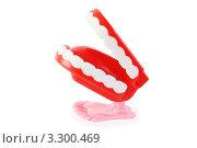 Купить «Заводная челюсть на белом фоне», фото № 3300469, снято 28 сентября 2010 г. (c) Losevsky Pavel / Фотобанк Лори
